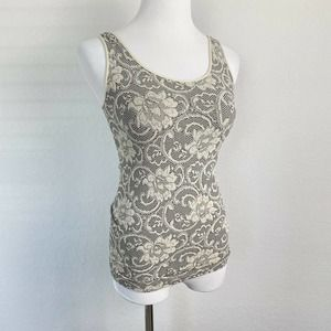 Soft Surroundings Ivory Floral Tank One Size